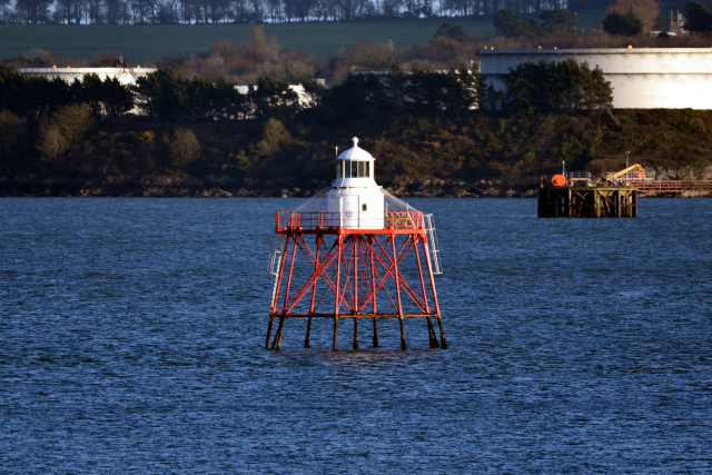 Spit Bank Lighthouse in Ireland's Cork Harbour