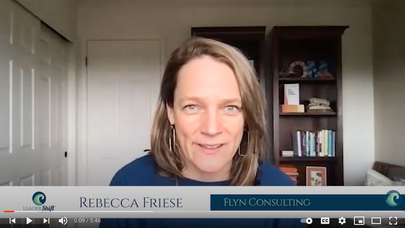 Testimonial for LeaderShift Insights Rebecca Friese Flyn Consulting